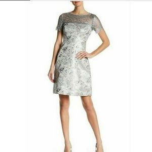 Tahari Women's Metallic Serina Jacquard Dress